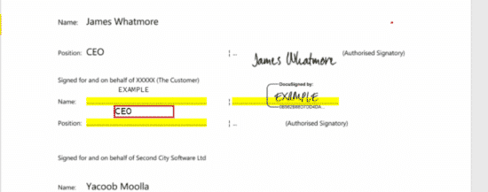 Escrow - Sign Agreement
