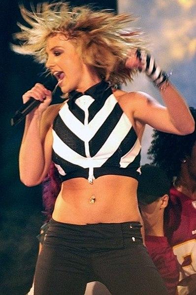Britney Spears performing in 1990s