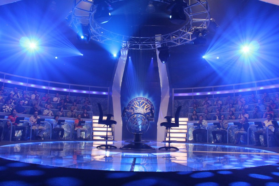 Who wants to be a millionaire tv set