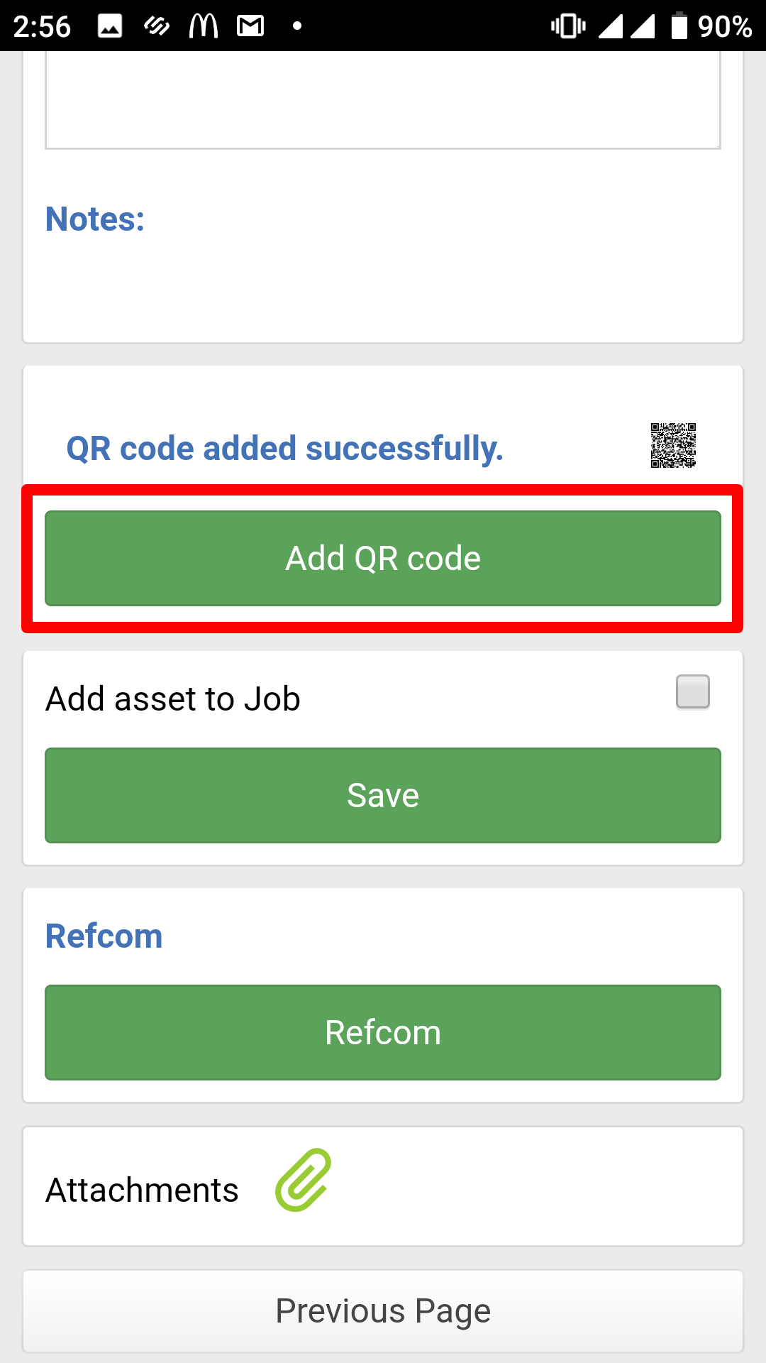 Figure 1: Joblogic Mobile - Asset Details screen
