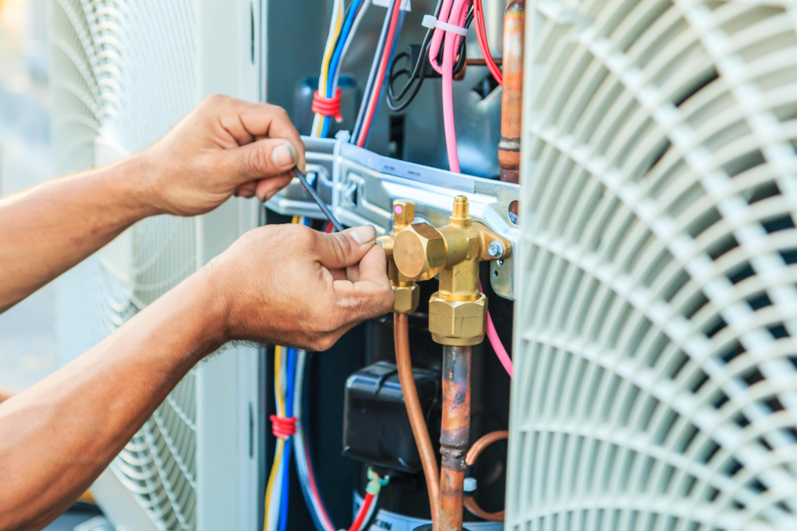 Installing air conditioners